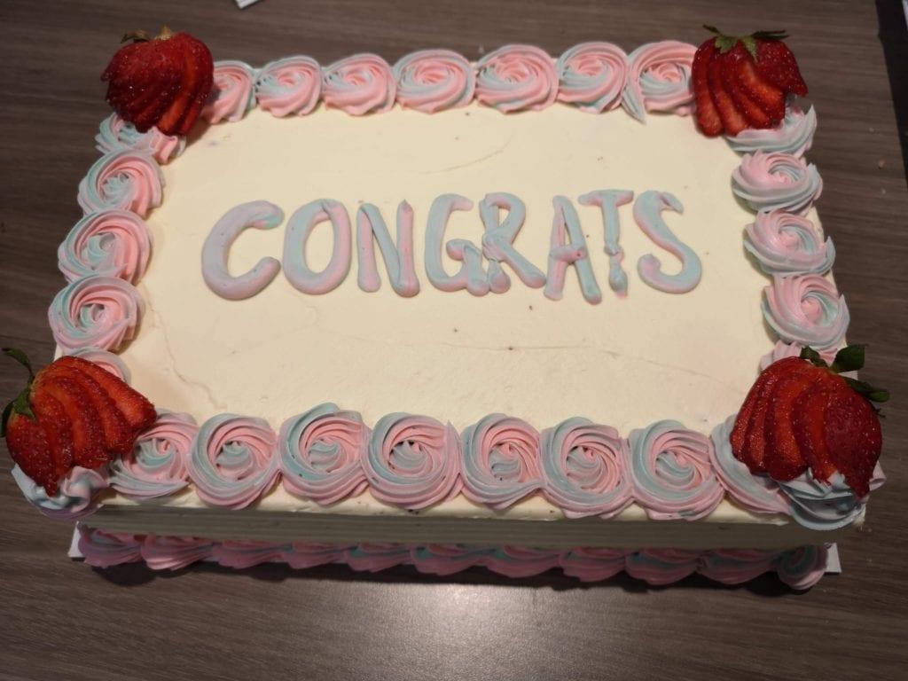 Birthday cake - Congrats